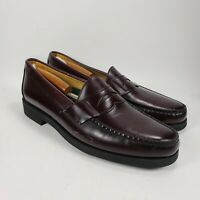 Sebago Handsewn Mens Penny Loafers Burgundy Leather Dress Shoes Size 13 B