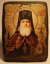 Handmade copy ancient ORTHODOX CHURCH ICON St Luke Archbishop of Crimea 67S