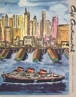 Vintage CAFE CONTINENTAL Restaurant Menu New York 1956