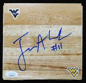 Joe Alexander West Virginia Mountaineers Signed 6x6 Floorboard JSA Authenticated
