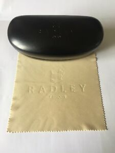 Radley Sunglass Case in Black with Embossed Radley Dog and Lettering to Front