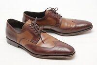 Mezlan Mens Wingtip Shoes 9 M Two Tone Tan Brown Shortwing Blucher Spain