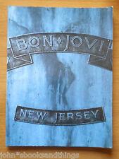 1988 Bon Jovi New Jersey Vintage Songbook Sheet Music Score Music