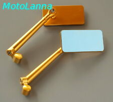 Billet CNC Aly Gold I-Fone Mirrors Yamaha SR500 XS650 Ducati CB750 CB Cafe Racer