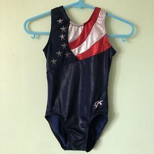 GK Elite Shannon Miller Legend Gymnastics Leotard Girls Size Child Medium USA CM