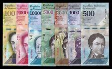 B-D-M Venezuela 500 1000 2000 5000 10000 20000 100000 Bolívares 2016-2017 SC UNC