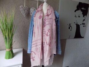 Seemann XL Trend Fashion Schal Tuch Strandtuch  Style rose Schal Stola (798)