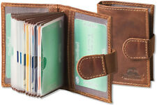 Woodland® Kreditkartenetui aus Büffel Leder in Braun mit flexibler Außenlasche