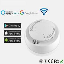 Alexa Smoke Sensor Alarm Detector Wifi Wireless Remote Monitoring Fo Android iOS