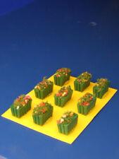 Vasi in legno verde rettangolari per plastici H0/N pezzi 9 - KREA