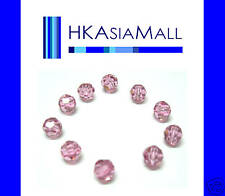 10 Swarovski Crystal Beads Round 5000 ROSE 6mm
