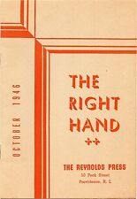 1946 Advertising Brochure The Reynolds Press Rhode Island The Right Hand