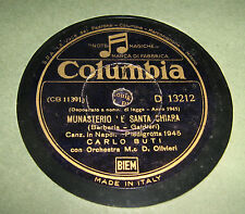 Disco Grammofono 78 Giri Vintage Carlo Buti - Monastero è Santa Chiara -Columbia