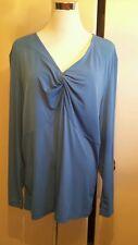 Lane bryant size 14/16 baby blue long sleeve long blouse very prety