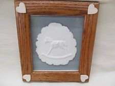 Framed Rocking Horse Cotton Country Paper Casting by Montana Artist Mike Casper