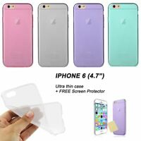 """Ultra thin 0.3mm matte frosted iPhone 6 4.7"""" case + FREE Screen protector"""