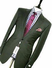 BNWT LUXURY MENS PAL ZILERI ABITO PRIVATO TAILOR-MADE CHARCOAL SUIT 36R W30