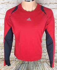 Adidas Supernova Long Sleeve Top Running Cycling Red Sz Large / L Men's