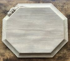 More details for robert thompson mouseman hand carved oak bread / chopping board yorkshire adze