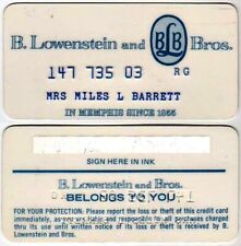 Vintage Store Credit Card Issued By B. Lowenstein & Bros, Memphis, Tn: 1970s