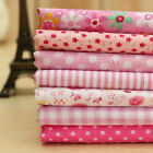 "PINK Series 7 Assorted Pre Cut Cotton Quilt Fabric Fat Quarters Set 19.7""x19.7"""