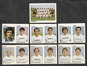 LOTTO DI 7 FIGURINE ALBUM CALCIATORI CALCIO FLASH 84 1983-84 CESENA COMPLETA