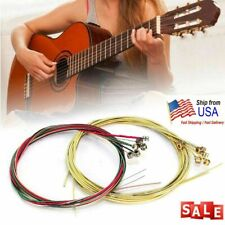 1 Sets of 6pcs Colorful Acoustic Guitar Strings 1st-6th String Steel Strings US
