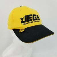 JEGS High Performance Auto Part Yellow Embroidered Ball Cap Adjustable Strap Hat