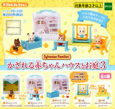Sylvanian Families CAPSULES TOY BABY HOUSE & GARDEN 5pc set Ver3 Calico Critters