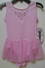 Girls Jacques Moret Dance Fashion Basic Powder Pink Tank Skirtall Sz M 8-10