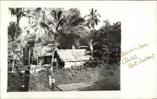Java Dutch East Indies Native Home Thatch Roof Real Photo Postcard c1910 rtw