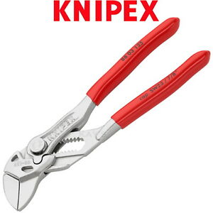 Knipex Pliers Wrench 125mm 5in Push Button Adjustable Spanner PVC Grips 8603125