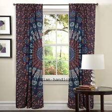 Indian Mandala Curtain Hippie Window Wall Drapes Panel Boho Door Window Curtains
