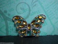 Versilberte Modeschmuck-Broschen & -Anstecknadeln aus Strass für Damen