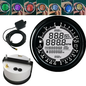 85MM Digital Car GPS Speedo Tacho Gauge Voltmeter Fuel Water Temp Oil Pressure