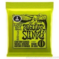 Ernie Ball  Regular Slinky 3 Sets Pack Electric Guitar Strings UPC 749699132219