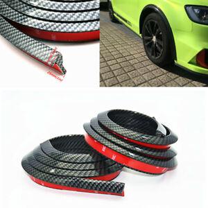 2Pcs Carbon Fiber Car Fender Flare Wheel Eyebrow Protector Arch Protection Strip