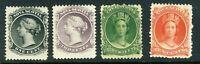 1860 Canada Nova Scotia Stamp: Queen Victoria  SC#8-11, MVLH &OG; CV=$48