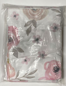 Queen Bed Sheet Set with Pink and Grey Floral Roses by Sweet Jojo Designs