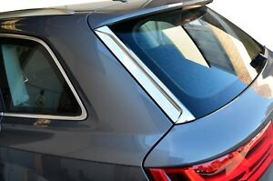 Chrome Rear Spoiler Side Cover Garnish Cover for Audi Q7 4M 15-19