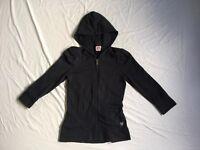 Juicy Couture Women's Hoodie Jacket Dark Gray Charcoal Petite