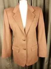 DAKS Simpson Signature 100% Cashmere Caramel Brown Jacket Blazer UK8 EU36