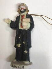 Emmett Kelly, Jr. figurine Flambro Lawyer ornament