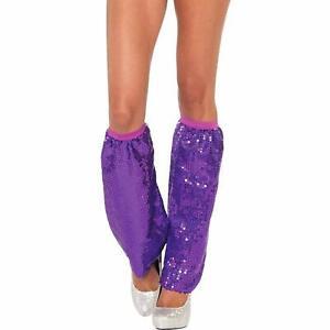 Sequin Leg Warmers Dance Party Fancy Dress Halloween Costume Accessory 4 COLORS