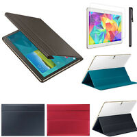 "Leather Case Cover 10.5"" For Samsung Galaxy Tab S T800  Screen Film  Stylus Pen"