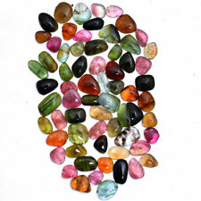 58 Cts Natural Tourmaline Multi Color 6mm-10mm Cabochon Lot Untreated Gemstones