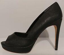 "NEW!! Charles By Charles David Black Leather 5"" Heels Peep Toe Size 8.5 US 38.5"