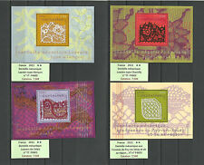 FRANCE 2011 DENTELLE MECANIQUE..4 x Miniature Sheets F4600-F4603 (WITH LACE) MNH