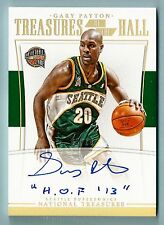 GARY PAYTON 2015/16 NATIONAL TREASURES TREASURES OF THE HALL INSCRIBED AUTO /10