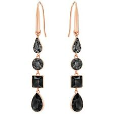 Swarovski 5395239 LISANNE PIERCED EARRINGS, BLACK,  NIB Authentic